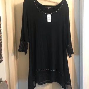 Ladies dressy black tunic